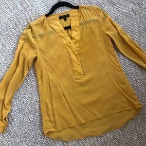 Yellow Banana Republic Silk Blouse